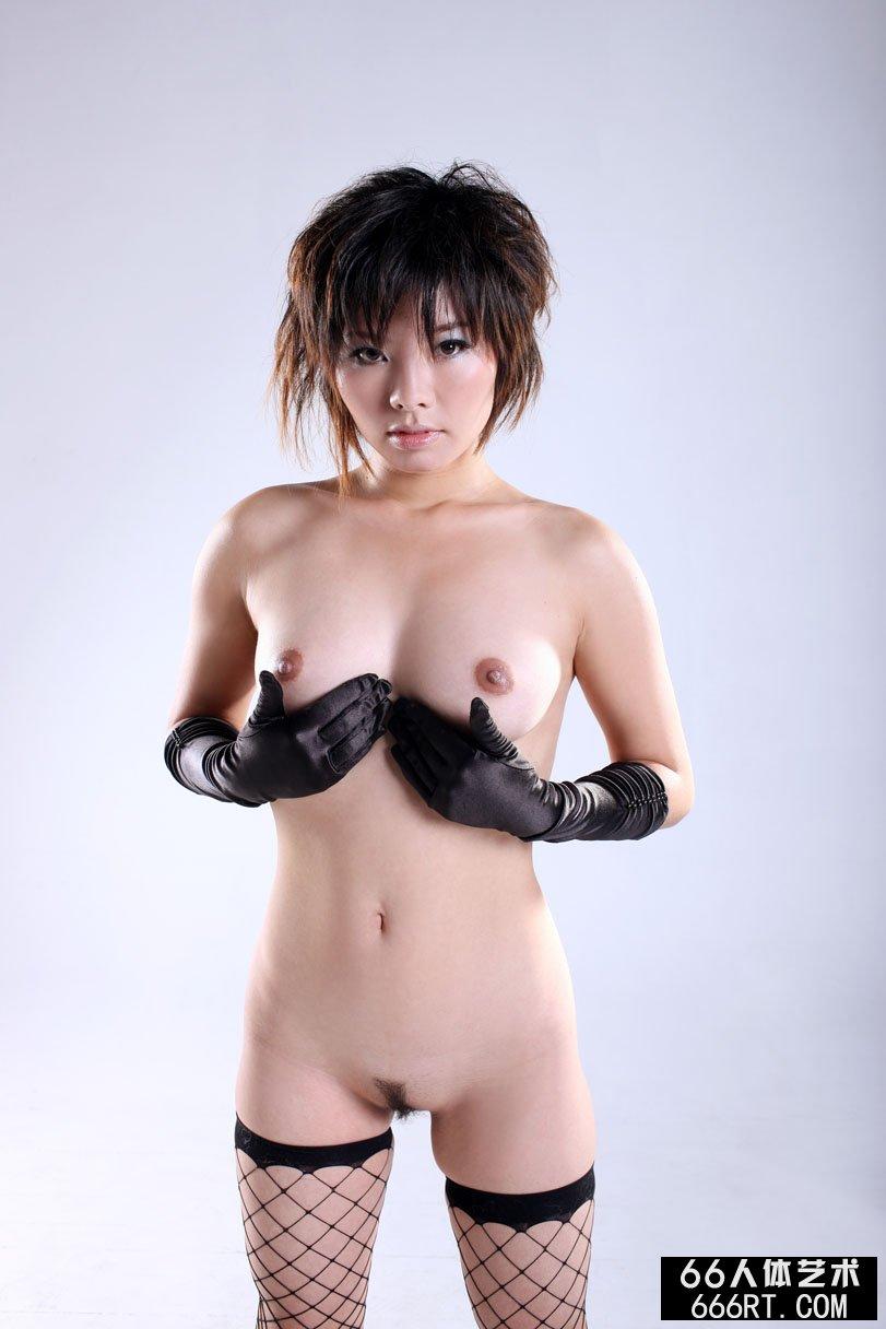 名模晓灵09年1月5日棚拍妩媚黑丝袜人体